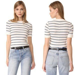 FRAME 70s Double Stripe Fitted Tee